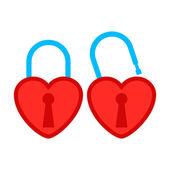 Kilitli kalp simgesi — Stok Vektör