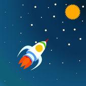 Razzo spaziale — Vettoriale Stock