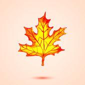 Belle foglie d'autunnali. — Vettoriale Stock