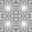 Twirl black and white seamless ornament or background.Vector — Imagens vectoriais em stock