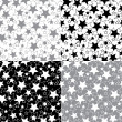 Stars in a set of seamless pattern or background.Vector. — Vector de stock