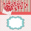 Vintage Valentines Design Template with hearts and polka dot — Stock Vector #40009845