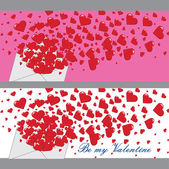 Love letter with hearts Valentines.Banners.Vector — Stock Vector