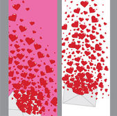 Love letter with hearts Valentines.Vertical Banners.Vector — Stock Vector