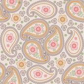 Paisley fabric seamless vector pattern.Retro — ストックベクタ