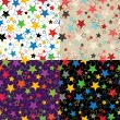 Stars of five colors.Set Seamless pattern or background — Vector de stock  #40671511