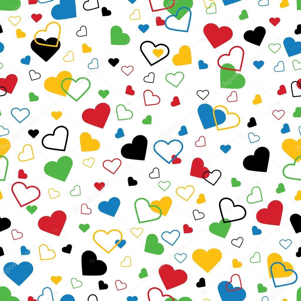 corazones de colores fondo - photo #47
