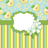 Spring Design template.Cherry flowers background and strips — Stock Vector