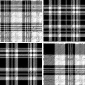 Black and white tartan seamless vector pattern — Stock Vector