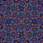 Paisley fabric seamless vector pattern.Vector oriental motif — Stock Vector #42624227