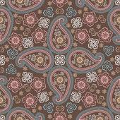 佩斯利织物无缝 pattern.oriental motif.retro — 图库矢量图片