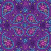 Paisley fabric seamless vector pattern.Oriental motif — Stockvector