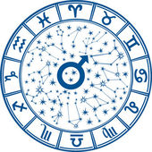 Zodiac sign.Horoscope circle.For man — Stockvektor