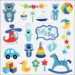 Baby toys set collection for little boy — Stock Vector #43584977