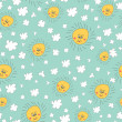Stylish fun seamless pattern with  sky,sun, clouds Doodles — Stock Photo #45732195