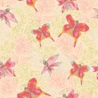 Stylish Vintage floral seamless pattern with butterflies.Doodles — Stock Photo #45732211