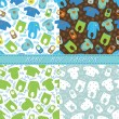 Clothes for newborn baby boy seamless pattern set — Stock Photo #45840365