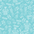 Baby boyl cute seamless pattern. Sleep newborn items collection — Stock Photo #45942013