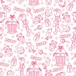Baby girl cute seamless pattern. Sleep newborn items collection — Stock Photo #45942019