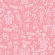 Baby girl cute seamless pattern. Sleep newborn items collection — Stock Photo #45942037