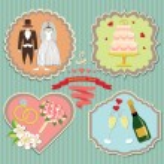 Label set wedding elements. — Stock Photo #46101359