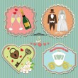 Labels with wedding elements. — Stock Photo #46101383
