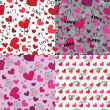 Set of love Seamless pattern or background with hearts — Stock Photo #46101401