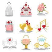 Design wedding  icons — Stock Photo