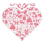 Hearts composition of Wedding Design — Stock Photo