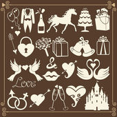 Wedding Design Flat icons — Stock Photo