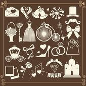 Wedding Design  icons — Stock Photo