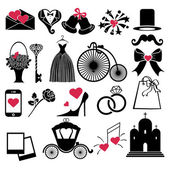 Vector Wedding Design  icons for Web and Mobile — Stock Photo