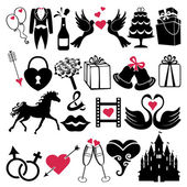 Wedding Design Vector icons for Web and Mobile — Stock Photo