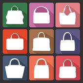 Silhouettes of  fashion women's handbag — Stock Photo
