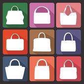 Siluetleri moda bayan çanta — Stok fotoğraf