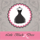 Label with dress. — Stock Photo