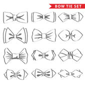Outline bow ties — Stock Photo