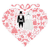 Design with Wedding dress — Stock Photo