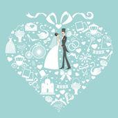 与婚礼元素组成 — 图库照片