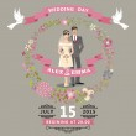 Cute wedding invitation — Stock Photo #49356195