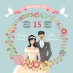 Cute Wedding invitation. — Stock Photo #49356221