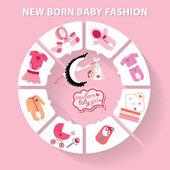 Circle baby infographic. — Stock Photo
