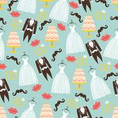 Wedding seamless pattern set. — Stock Photo