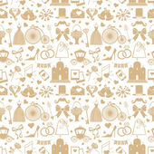 Wedding elements in seamless pattern — Stock Photo