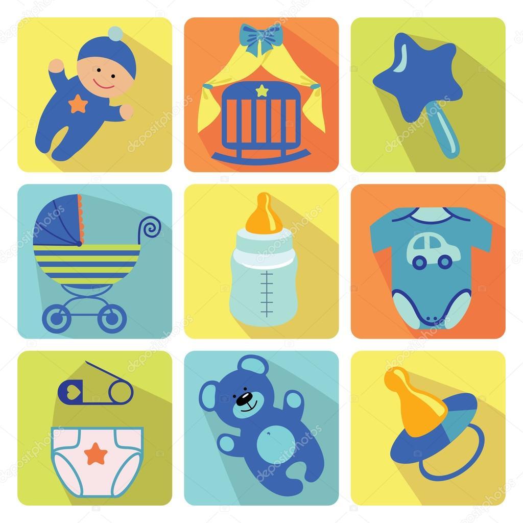 Iconos de dibujos animados lindo para beb reci n nacido for Recien nacido dibujo