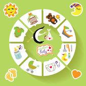 Infográfico de bebê do círculo. — Fotografia Stock