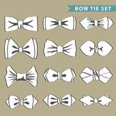 Fashion set with bow tie — Stock Photo