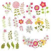 节日花卉组。帧、 鲜花、 花圈 — 图库照片