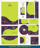 Corporate identity business set design.Abstract triangles patter — Stock Photo
