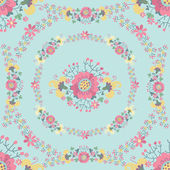 Hezký květinový vzor bezešvé — Stock fotografie